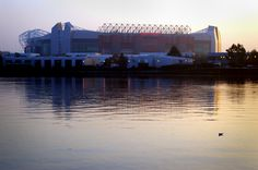 Old Trafford, reflected