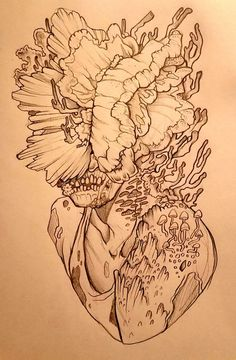 [OC] Played The Last of Us for the first time so I drew a Clicker. Zombie Drawings, The Last Of Us2, Death Proof, Graffiti, Geometric Drawing, Gaming Tattoo, Fantasy Inspiration, Game Art, Art Sketches