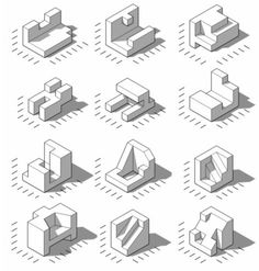 Isometric Projections by Daniel Wyllie, via Flickr