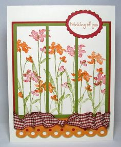 Autumn Meadow by peebsmama - Cards and Paper Crafts at Splitcoaststampers Green Colors, I Card, Cardmaking, Paper Crafts, Layout, Scrapbook, Autumn, Pretty, Life