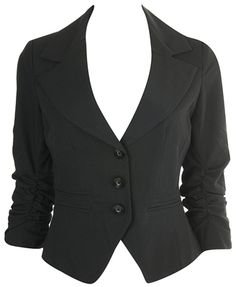 Cropped 3/4 sleeved blazer - summer business casual