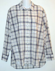 Madewell Multi Plaid Cotton Button Down Shirt. Free shipping and guaranteed authenticity on Madewell Multi Plaid Cotton Button Down Shirt at Tradesy. Casual shirt from Madewell in beige, ivory and nav...