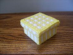 Yellow and White Keepsakes Box by ShanaysCreation on Etsy