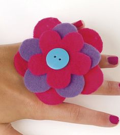 Felt Flower Rings : Fabric Crafting Projects :  Shop | Joann.com