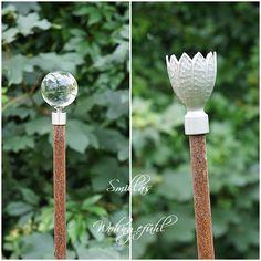 Gartenstecker-basteln-ideen-glas-tuerknauf | Yard | Pinterest ... Gartenstecker Basteln Ideen Gartendeko
