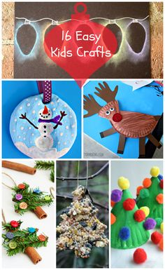 Kids on winter break? Here are some super easy, super cute crafts that can keep them busy and will create mementos you'll keep for years to come.