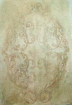 Raised Plaster La Rochelle Medallion Wall Stencil Furniture Stencil