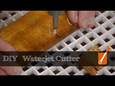 Waterjet cutter built with a cheap pressure washer - YouTube