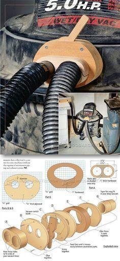 Shop Vacuum Blast Gate - Dust Collection Tips, Jigs and Fixtures | http://WoodArchivist.com