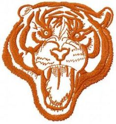 tribal tiger free embroidery design 6