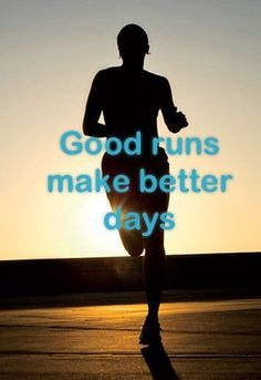 Biggest Loser / / Motivation / Inspiration Good runs make better days. motivation Love this quote! Fitness Motivation, Running Motivation, Fitness Quotes, Marathon Motivation, Workout Quotes, I Love To Run, Just Run, Keep Running, Running Tips