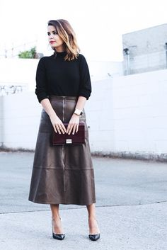 f985f1bb30 182 Best Leather midi skirts images in 2019 | Leather dresses ...