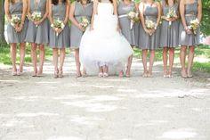 grey bridesmaids