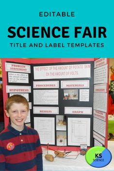 This science fair label template is set to help students create their science fair board. The labels are set to the correct dimensions for a 3 x 5 display board. Perfect for all grade levels. Science Fair Board Layout, Science Fair Projects Boards, School Projects, Science Worksheets, Science Resources, Science Activities, Fourth Grade Science, Create Labels, Next Generation Science Standards