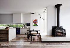 Australian Interior Design, Interior Design Awards, Australian Homes, Interior Design Kitchen, Architects Melbourne, Contemporary Beach House, Contemporary Style, House Design Photos, Fireplace Design
