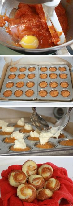 Simple Pumpkin Cheesecake Muffins http://recipesimple.net/2013/09/simple-pumpkin-cheesecake-muffins/ Don't forget to Follow Us on Pinterest --> http://www.pinterest.com/diyideaboards/  to keep up with the latest in Recipes.
