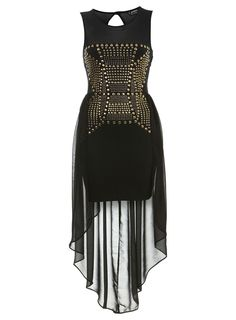 Petites Studded Maxi Dress        Price: $85.00      Color: BLACK      Item code: 34M28KBLK