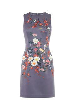 Oasis, OSAKA SATIN SHIFT DRESS Multi 0