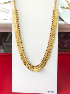 Gold Jewellery Design, Bridal Jewellery, Wedding Jewelry, Gold Jewelry, Jewelery, South Indian Jewellery, Indian Jewelry, Kaasu Mala, Couple Wedding Dress