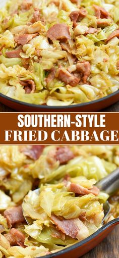 Southern Fried Cabbage is the perfect side dish you'll love for family or holiday dinners. It's easy to make with simple ingredients and is loaded with incredible flavor from bacon and spices.
