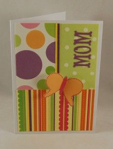 "Mothers Day Card idea or could make it into a ""thank you""  or ""just because"" card too."