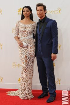Tumblr Camila Alves in Zuhair Murad and Matthew McConaughey in Dolce & Gabbana on the Red Carpet at the 2014 Emmy Awards