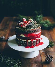 Vegan Cake m&s vegan wedding cake Pretty Cakes, Beautiful Cakes, Amazing Cakes, Pavlova, Food Cakes, Cupcake Cakes, Sweet Recipes, Cake Recipes, Christmas Food Photography
