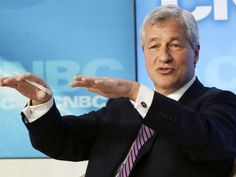 James Dimon gestures during the WEF meet in Davos