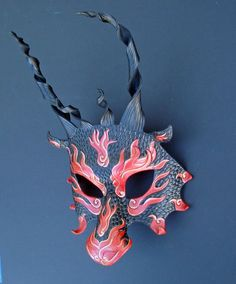 Red Asian Flame Dragon by merimask.deviantart.com on @deviantART