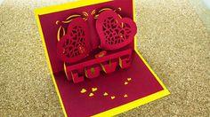 Tarjeta love [pop-up – 3D] // san valentin [facil]