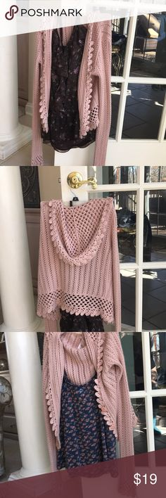 Hooded sweater Mauve/ pale pink hooded seawater Lilu Sweaters