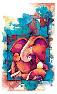 Ganesha Ganesha Drawing, Lord Ganesha Paintings, Ganesha Art, Krishna Art, Ganesha Pictures, Ganesh Images, Indian Art Paintings, Elephant Art, Hindu Art