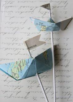 Decorar con barcos de papel