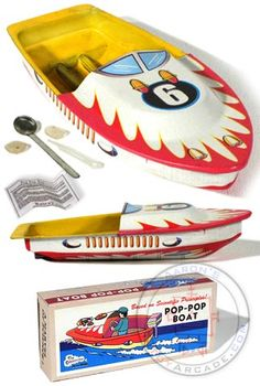 Pop Pop Boat: Steam powered toy boat that is generated by a candle