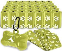 OxGord 1000 Black Pet Dog Waste Bags for Poop Removal Disposal Heavy Duty with Walk Leash Bone Dispenser and Leash Clip, Disposal, Green * To view further for this item, visit the image link. (This is an Amazon affiliate link)