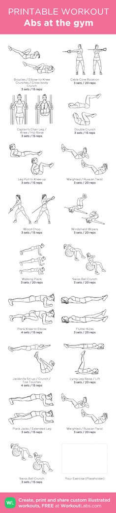 Abs at the gym: my visual workout created at WorkoutLabs.com • Click through to…