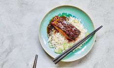 Quick, simple and impressive-looking Prawn Recipes, Fish Recipes, Crystallised Ginger, Teriyaki Salmon, Mary Berry, Fried Vegetables, Salmon Fillets, Just Cooking, Berries