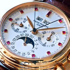 Ruby Dial Patek Philippe Perpetual Calendar with Split-Seconds Chronograph Reference 5004