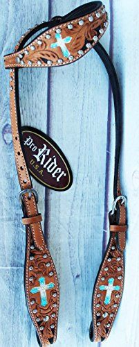 Horse Tack Bridle Western Leather Headstall Turquoise 8045HA