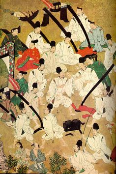 Scene from the Tale of Genji picture scroll.
