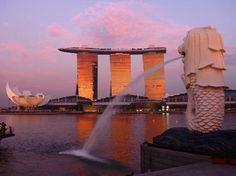 Merlion Park, Marina Bay Area, Singapore