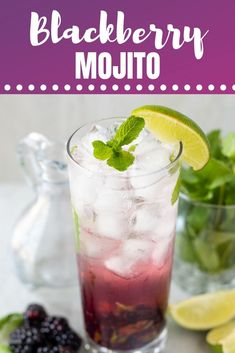 Blackberry Mojitos are a spin on a classic mojito that is refreshing, light, and bursts with blackberry flavor!