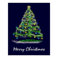 Shop Arty Abstract Christmas Tree on Midnight Blue Poster created by LaurisB. Merry Christmas Text, Christmas Tree, Christmas Ornaments, Christmas Posters, Christmas Ideas, Blue Poster, Christmas Pictures, Custom Posters, Midnight Blue