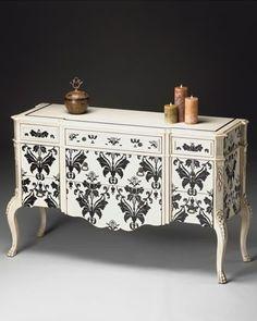 damask print furniture