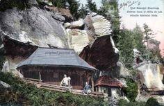 """BU-F-01073-5-00429 Bisericuţa """"Dintr-un lemn"""" şi chilia de sub stâncile Schitului Sihla, judeţul Neamţ, s. d. (sine dato) (niv.Document)"""