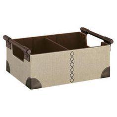 Organize It All  Brown Faux Leather Cd/Dvd Bin 53578 $50.59 Media Storage
