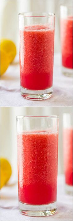 Watermelon Lemon Drop Slushies - Wondering what to do with all the watermelon you have? Make easy, cool, refreshing slushies!!