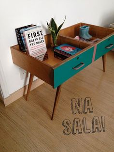 Small table made from two drawers: