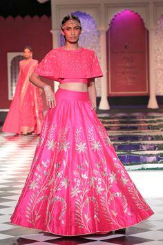 Anita Dongre's Rainbow Boho Wedding Collection {India Couture Week rosa hochzeit lengha Anita Dongre, Indian Dresses, Indian Outfits, Indian Skirt, Bridal Lehenga, Bridal Gowns, Pretty In Pink, Lehenga Blouse, Anarkali Lehenga