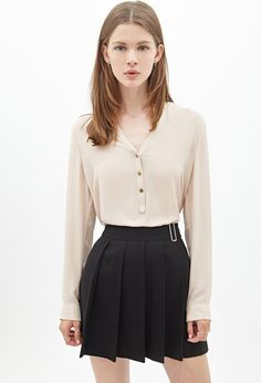 Buttoned Chiffon Blouse | Forever 21 Canada
